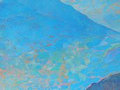 hunting above valley. Oil on canvas (detail)